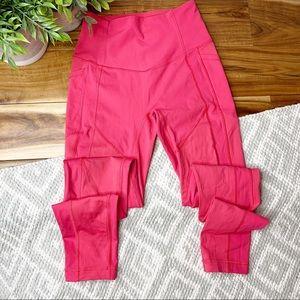 "LULULEMON Solid Pink Pocket Leggings 27"" Inseam"